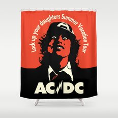 Ac/Dc angus young Shower Curtain