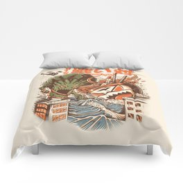 Kaiju Food Fight Comforters
