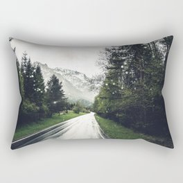Down the Road - Mountains, Forest, Austria Rectangular Pillow