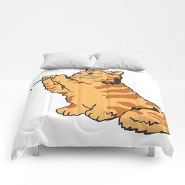 Transverse Flute Player Flutist Cat Kitten Gift Comforters