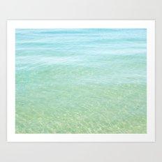 Glisten Shimmering Waves Art Print