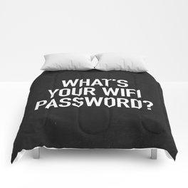 What's your wifi password? Comforters