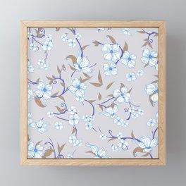 Creepy Flowers Pattern 3 Framed Mini Art Print
