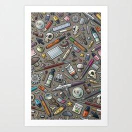 Graphic lab Art Print