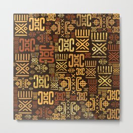 Ethnic African Pattern- browns and golds #8 Metal Print