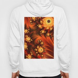 Glowing Fractal, Abstract Art With Warmth Hoody
