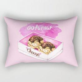 Food Pun - Ooh New Chouxs Rectangular Pillow