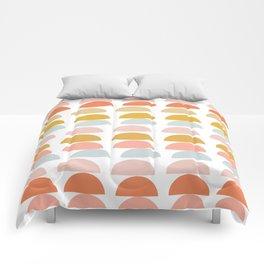 Geometric Half Circles Pattern in Earth Tones Comforters
