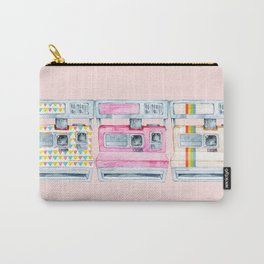 3 Colorful Cameras in a Row Carry-All Pouch
