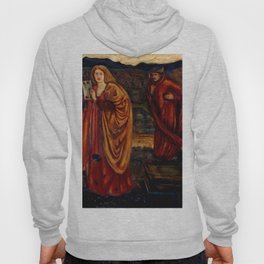 "Edward Burne-Jones ""Merlin and Nimue from Le Morte d'Arthur"" Hoody"