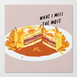 What I miss the most: Francesinha Canvas Print