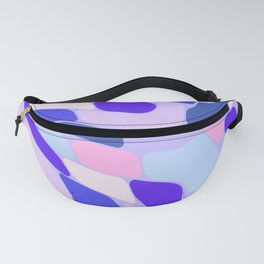 Blue and Pink Abstract Fanny Pack