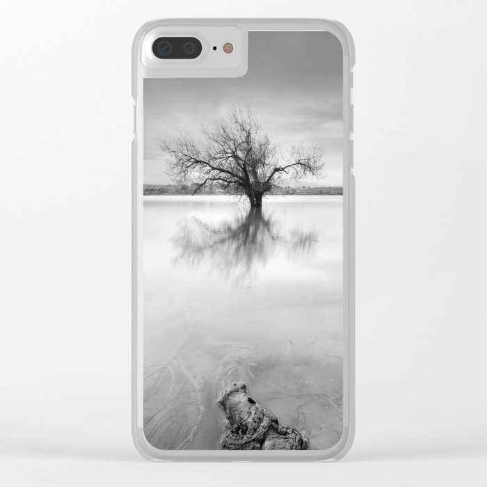 """""""Roots and trees..."""" BW Clear iPhone Case"""