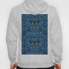Blue Indigo Unicorn Fractal Hoody