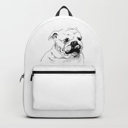 Drawing a dog's head. Backpack