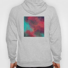 Passionate Firestorm Abstract Painting Hoody