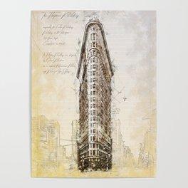 Flat Iron Building, New York, USA Poster