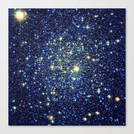 galaxY Stars : Midnight Blue & Gold Canvas Print