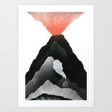Man & Nature - The Vulcano Art Print