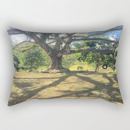 Tire Swing in a Tropical Place Rectangular Pillow