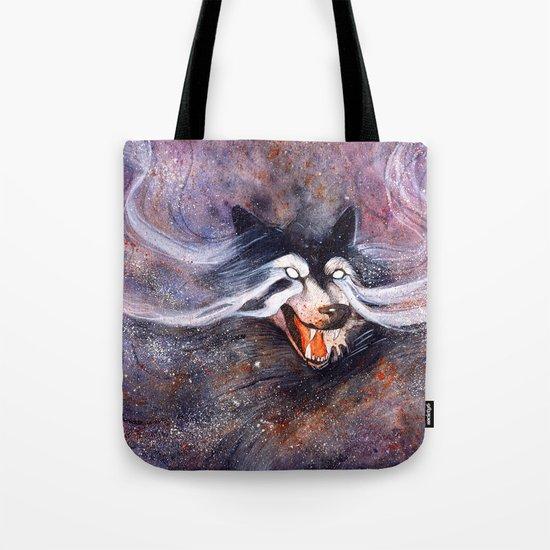 Borealis Wolf Tote Bag