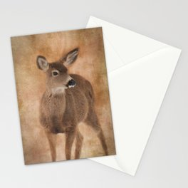 Winter's Fawn Stationery Cards