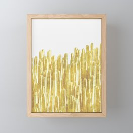 Golden Cactus Framed Mini Art Print