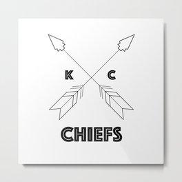 Chiefs Arrowhead Metal Print
