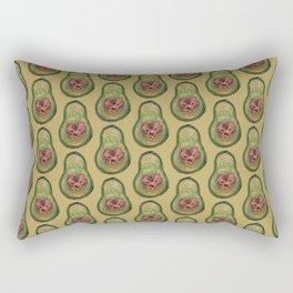 bear avocado Rectangular Pillow