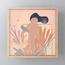 Abstract Flower Girl Framed Mini Art Print