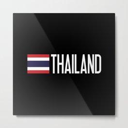 Thailand: Thai Flag & Thailand Metal Print