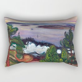 Train Smoke by Edvard Munch Rectangular Pillow