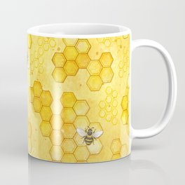 Meant to Bee - Honey Bees Pattern Coffee Mug