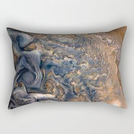 Swirling Clouds of Planet Jupiter Close Up from Juno Cam Rectangular Pillow