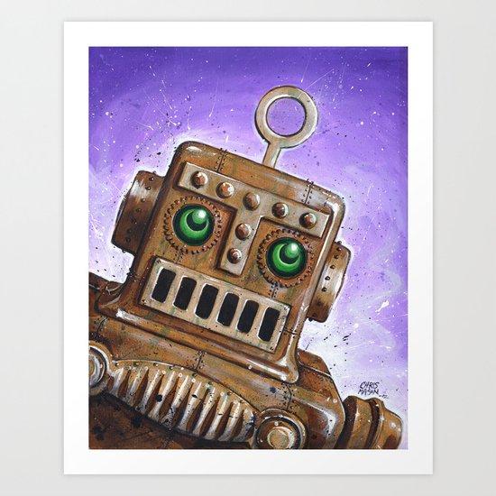 i.Friend: Steam Punk Robot Art Print