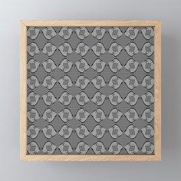 Abstract stripes pattern Framed Mini Art Print