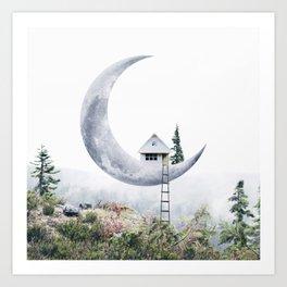 Moon House Art Print