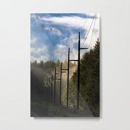 Pole Line Metal Print