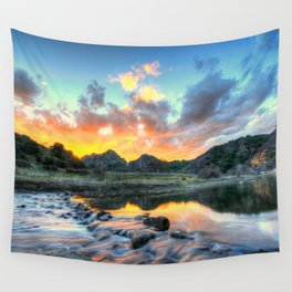 Sunset Landscape #river Wall Tapestry