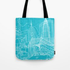 New York! Blueprint Tote Bag