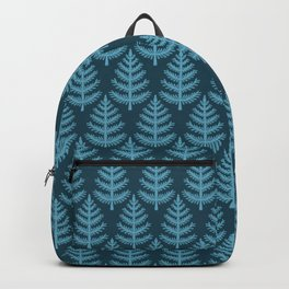 Hand drawn stylized Christmas tree pattern. Backpack