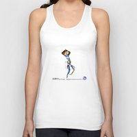 engineer Tank Tops featuring Engineer Amphibianaut suit SO 1.0 by Uri Tuchman
