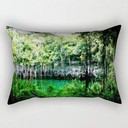 Travel Photography : Los Tres Ojos - Dominican Republic Cave Rectangular Pillow