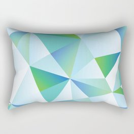 Ice Shards abstract geometric angles pattern Rectangular Pillow