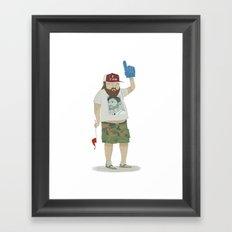 You're number 1! Framed Art Print