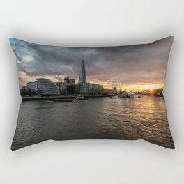 Sunset over the Thames Rectangular Pillow