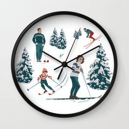 Sports d'hiver Wall Clock