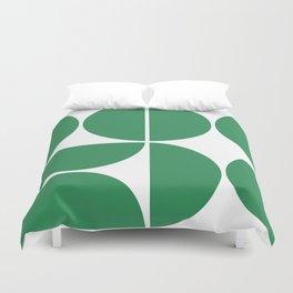 Mid Century Modern Green Square Duvet Cover