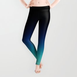 Blue Gray Black Ombre Leggings