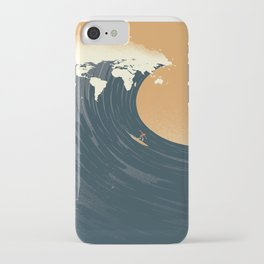 Surfing the World iPhone Case